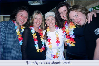 Bjorn Again and Shania Twain